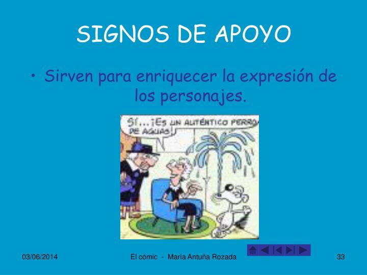 SIGNOS DE APOYO