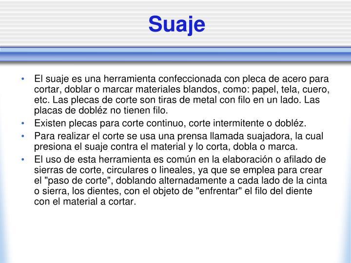 Suaje