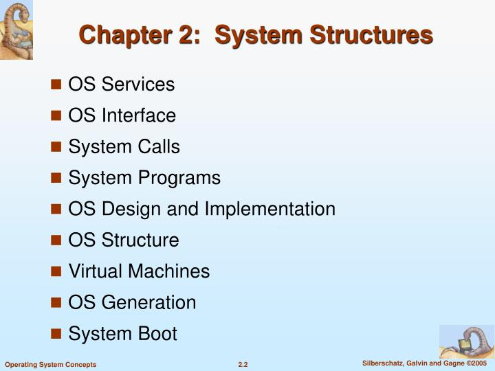 Chapter 2 system structures2