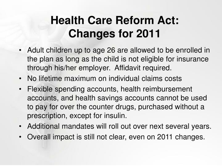 Health Care Reform Act: