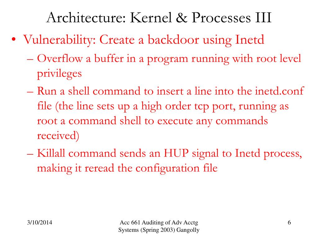Architecture: Kernel & Processes III