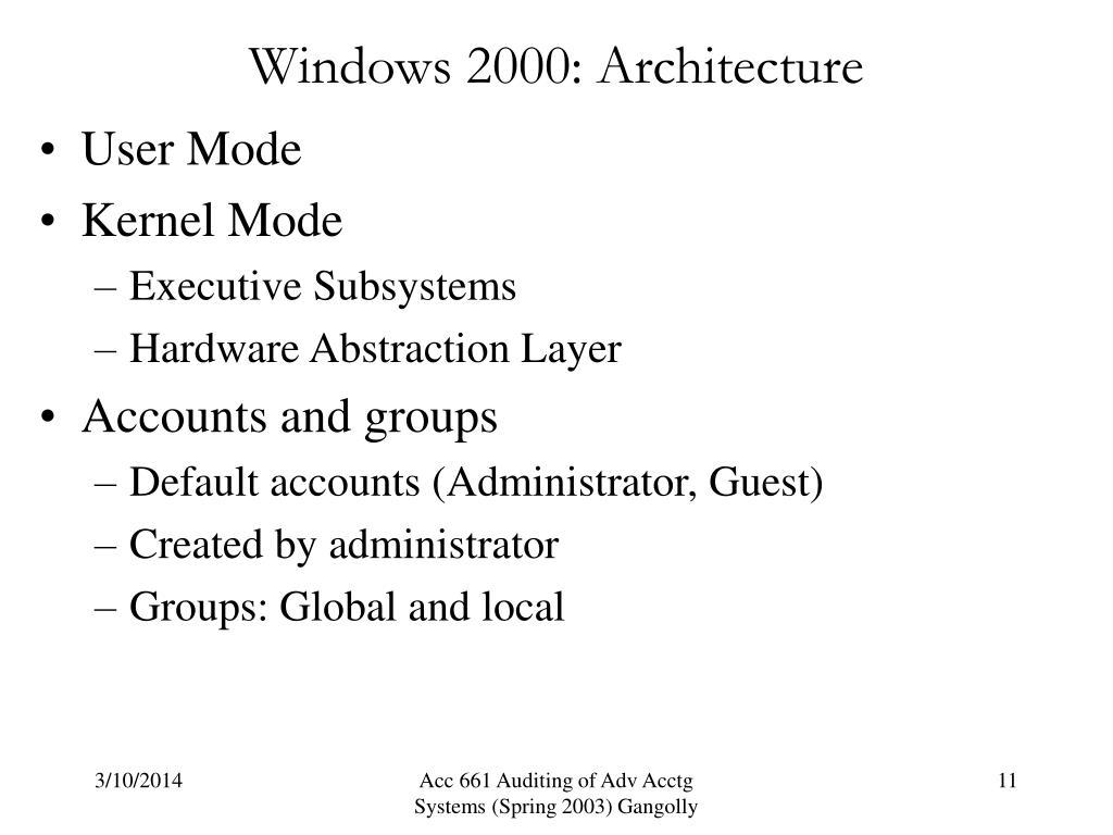 Windows 2000: Architecture