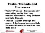 tasks threads and processes
