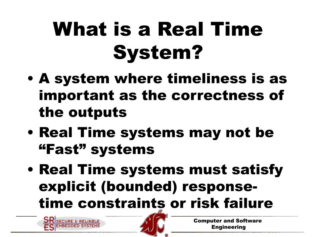 What is a Real Time System?