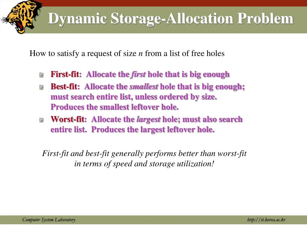 Dynamic Storage-Allocation Problem