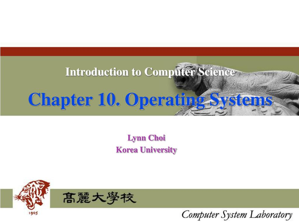 introduction to computer science chapter 10 operating systems