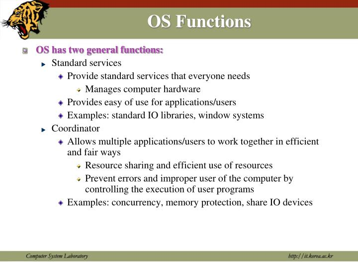 Os functions