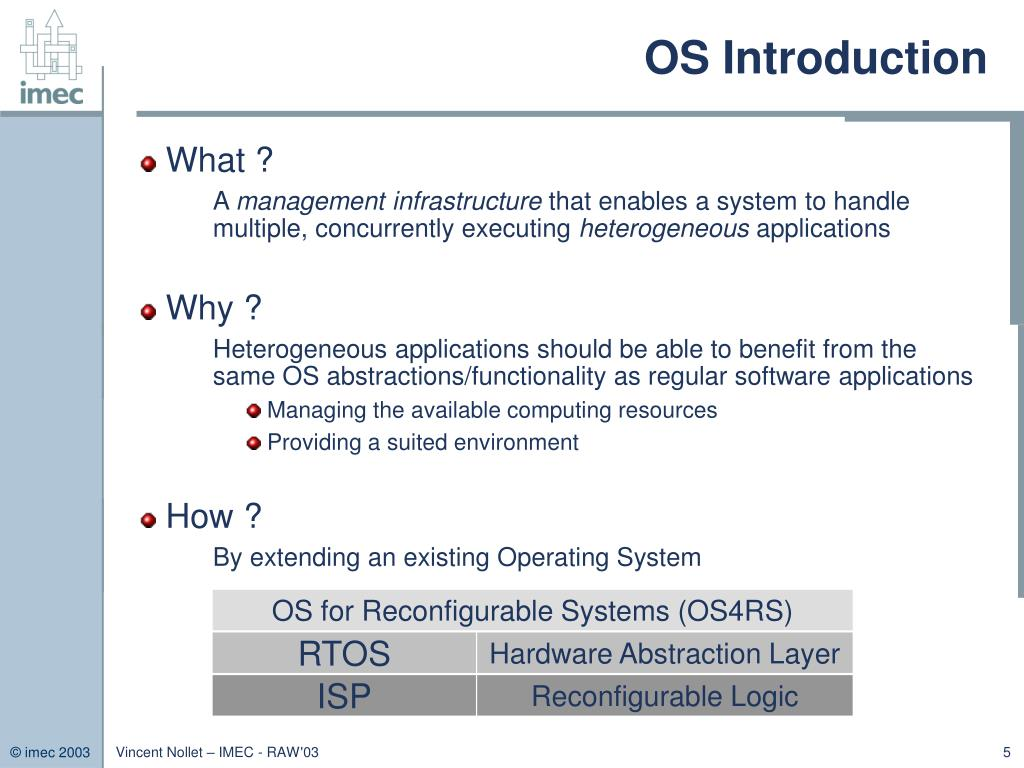 OS for Reconfigurable Systems (OS4RS)