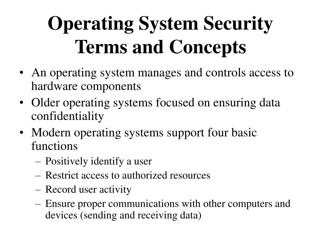 Operating System Security Terms and Concepts