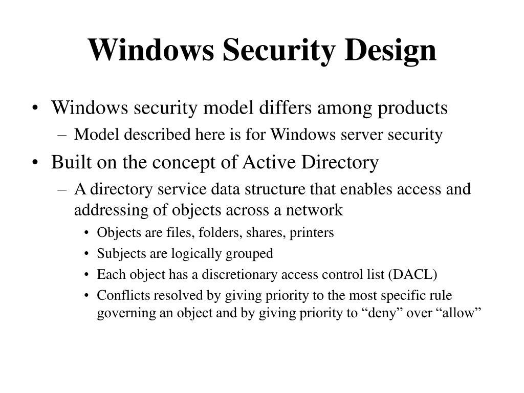 Windows Security Design