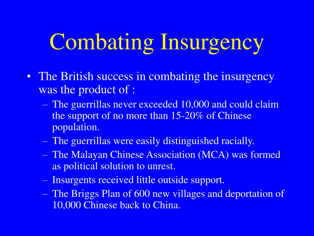 Combating Insurgency