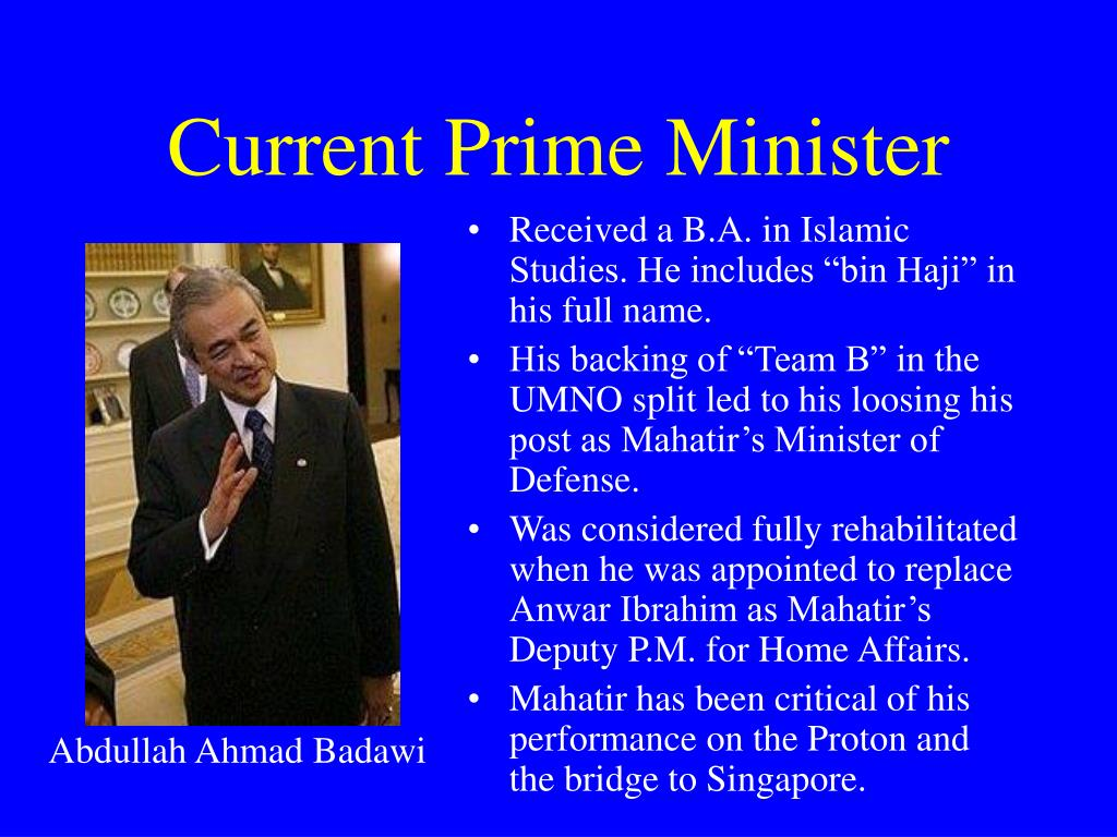 Current Prime Minister