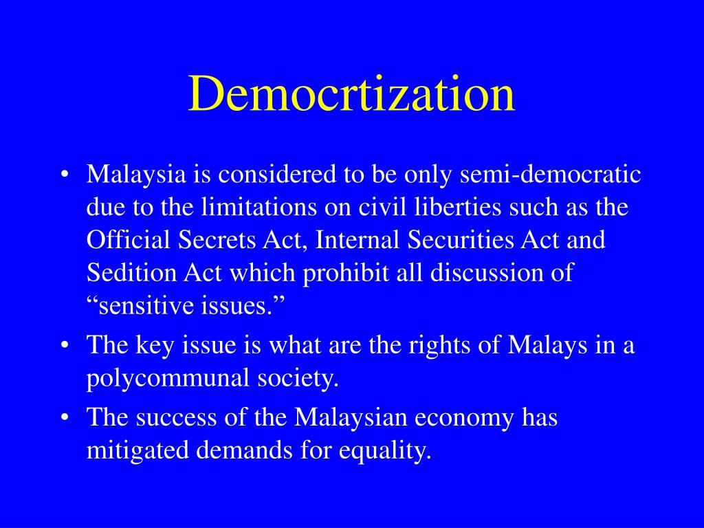 Democrtization
