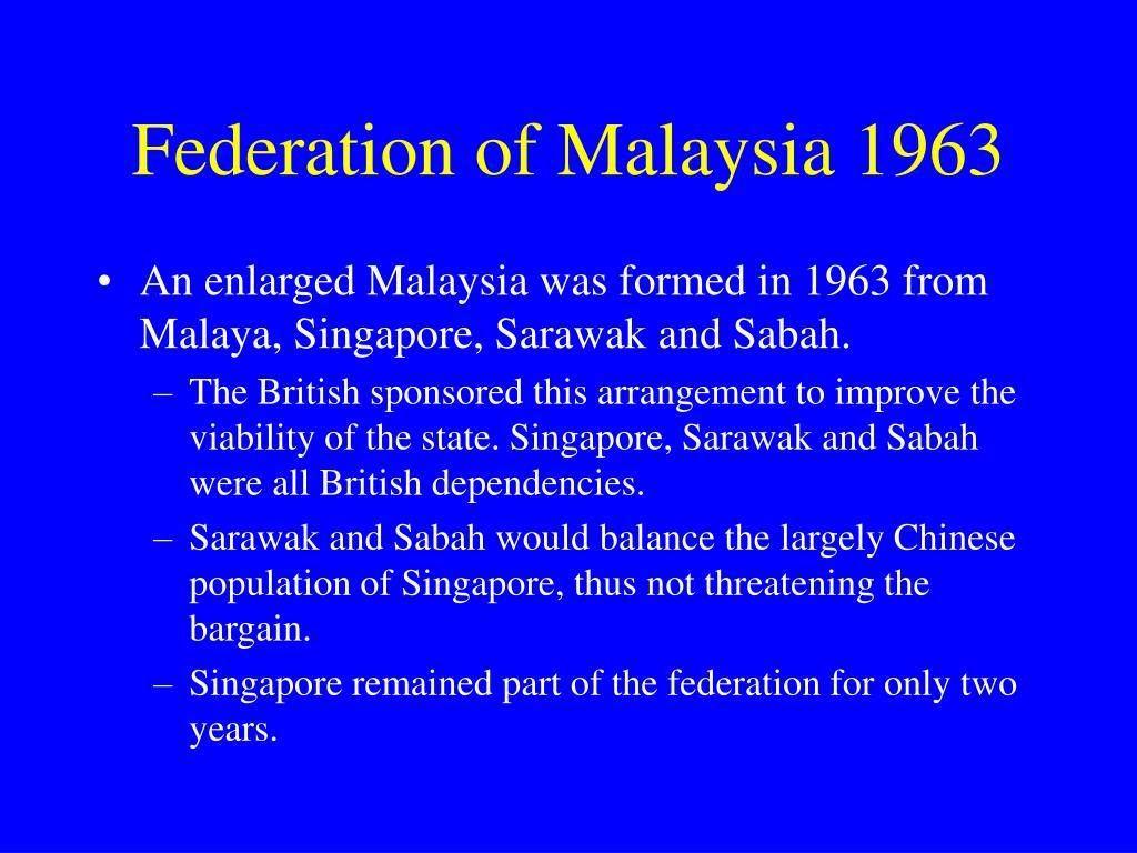 Federation of Malaysia 1963