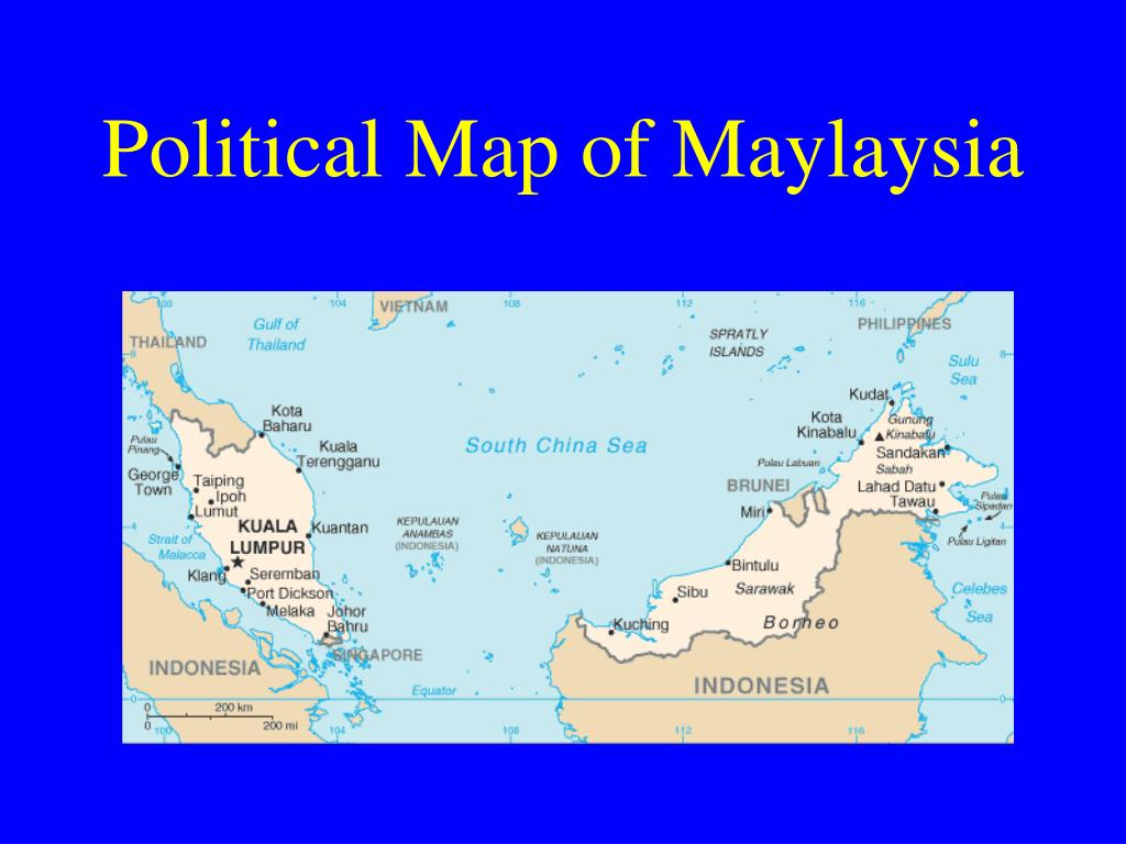 Political Map of Maylaysia