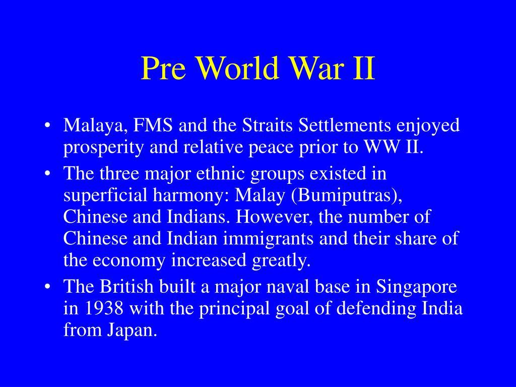 Pre World War II