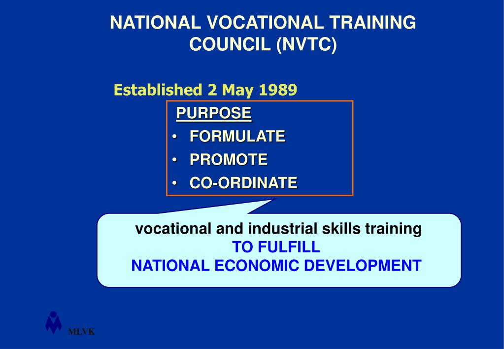 vocational and industrial skills training