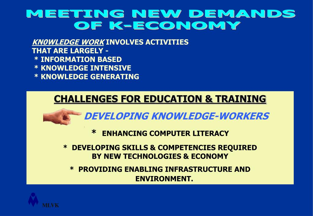 CHALLENGES FOR EDUCATION & TRAINING