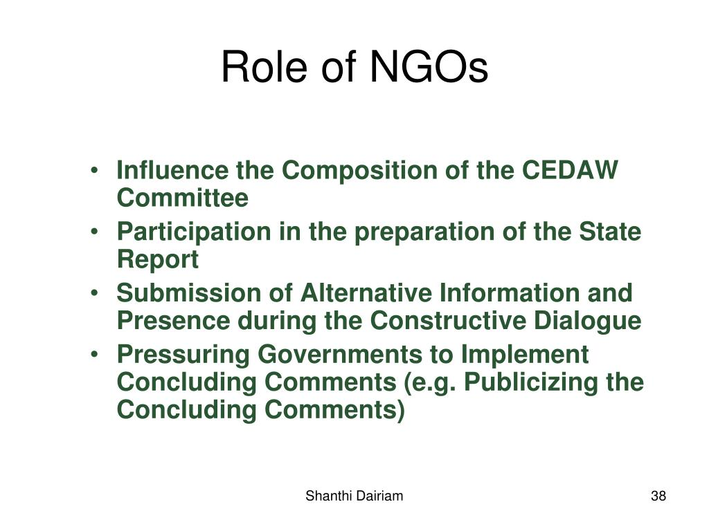 Influence the Composition of the CEDAW Committee