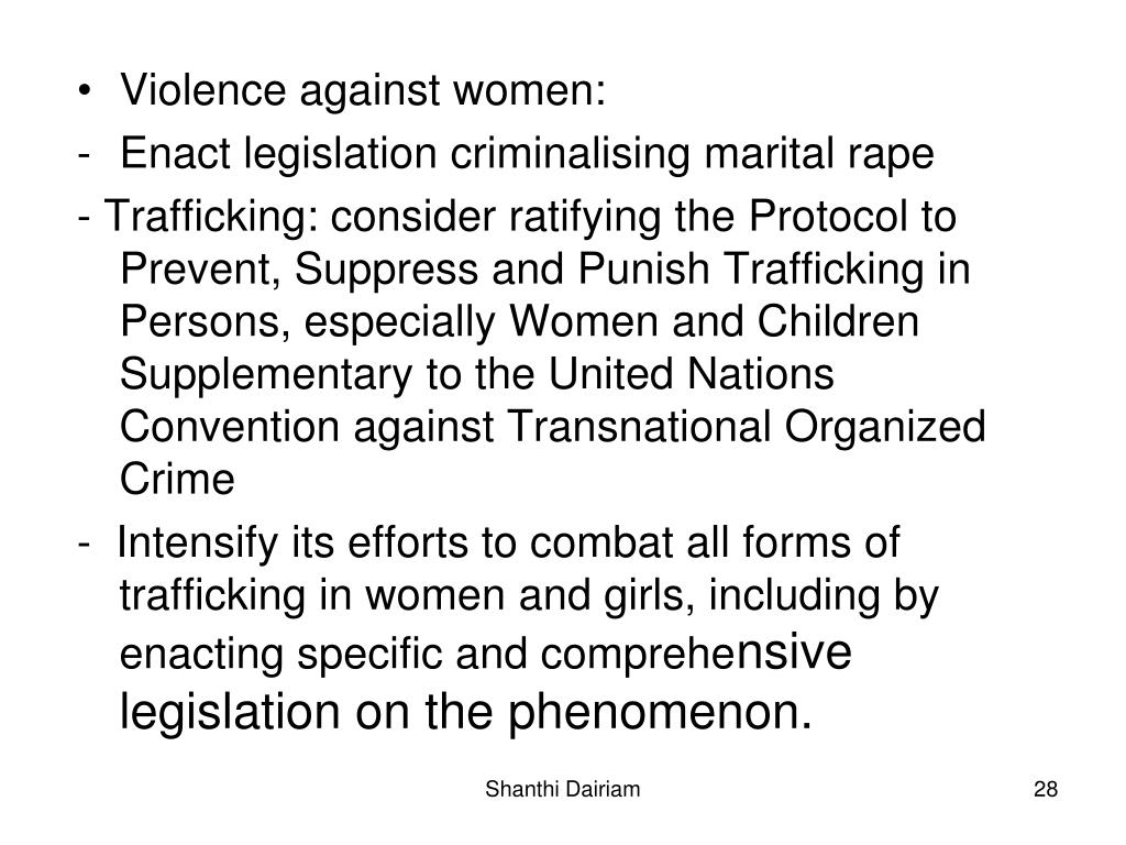 Violence against women: