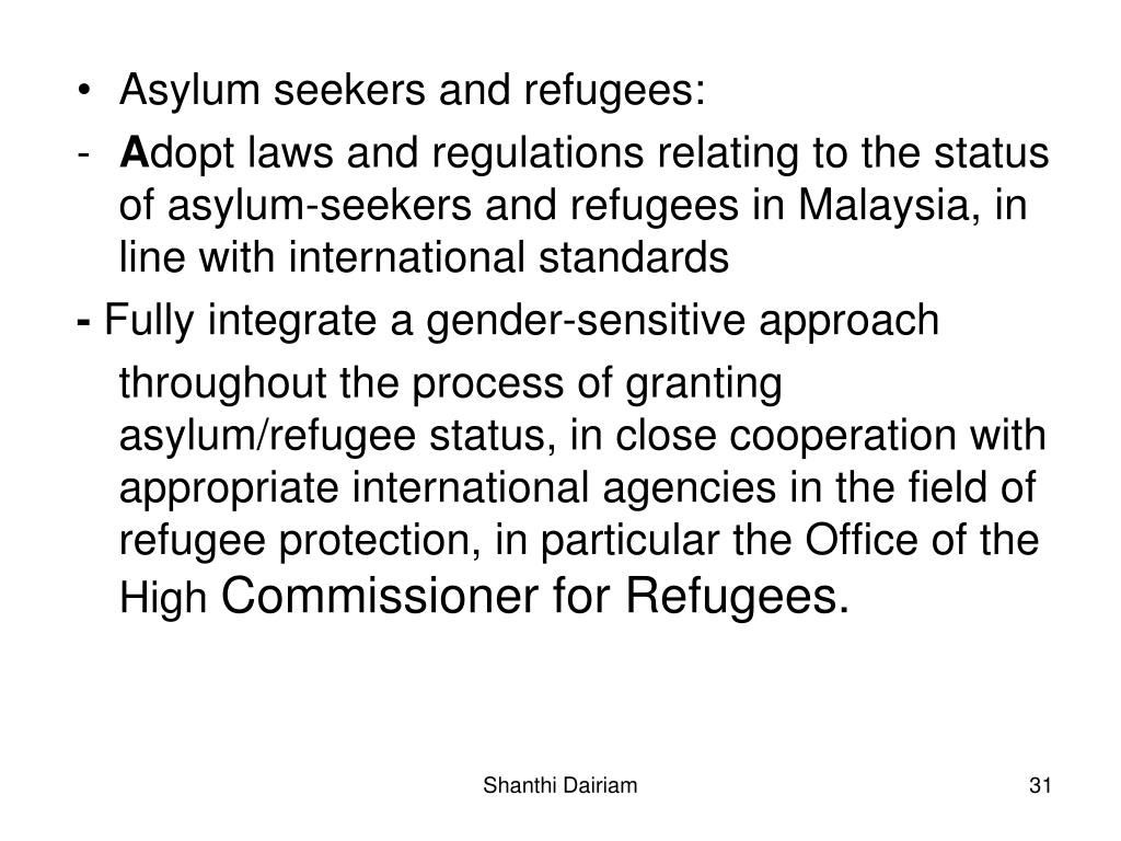 Asylum seekers and refugees: