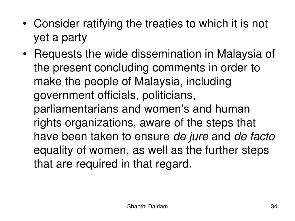 Consider ratifying the treaties to which it is not yet a party