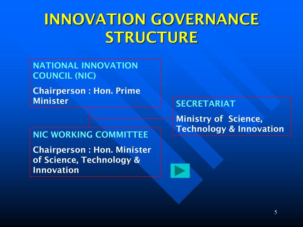 INNOVATION GOVERNANCE STRUCTURE