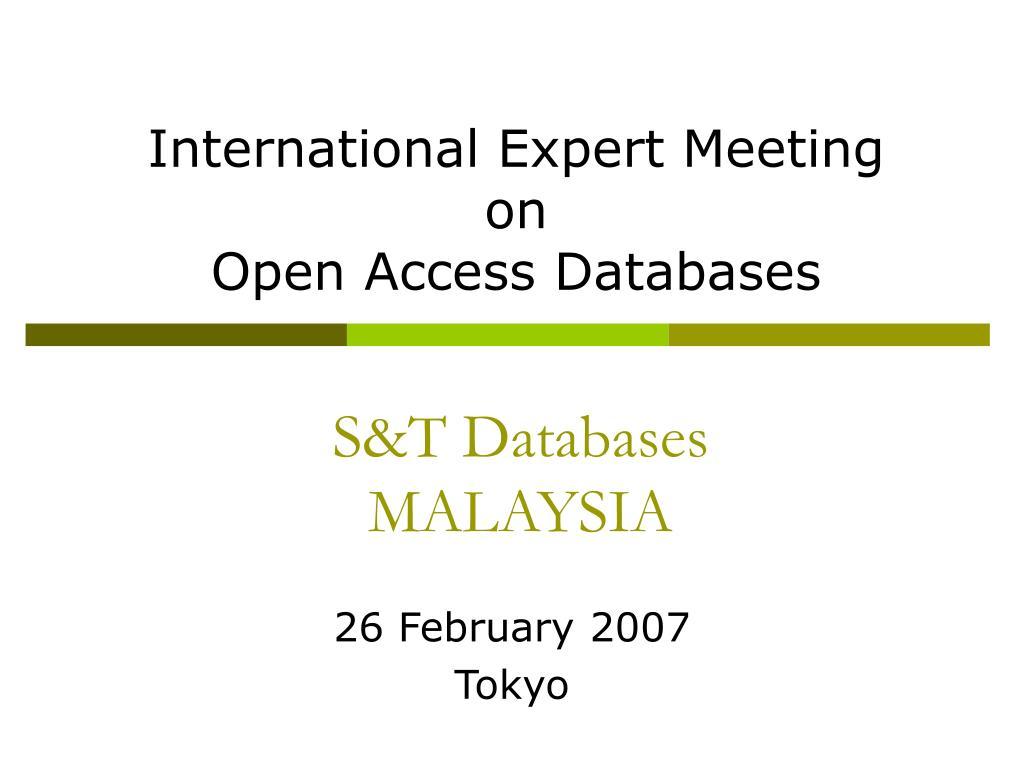 International Expert Meeting