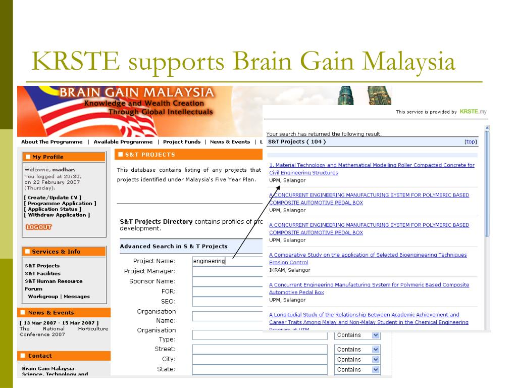 KRSTE supports Brain Gain Malaysia