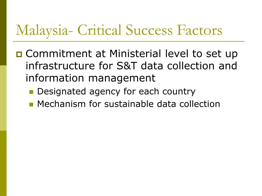 Malaysia- Critical Success Factors