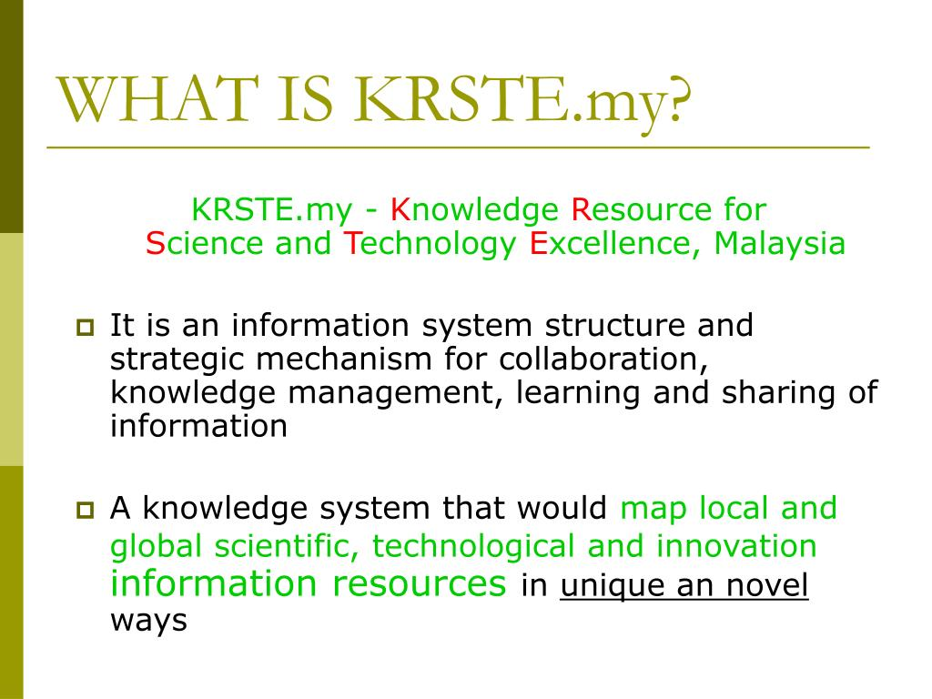 WHAT IS KRSTE.my?
