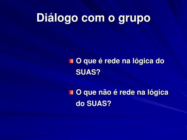 Diálogo com o grupo