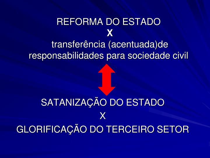 REFORMA DO ESTADO