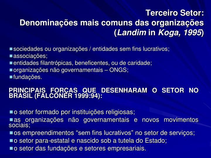 Terceiro Setor: