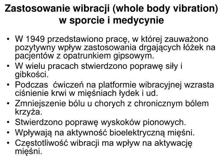 Zastosowanie wibracji (