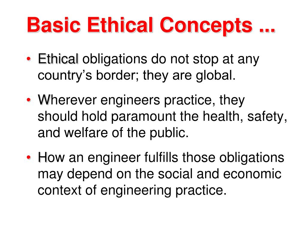 Basic Ethical Concepts ...