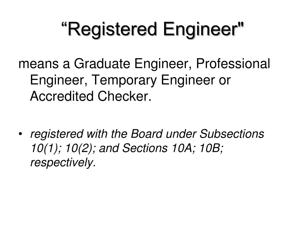 """Registered Engineer"""