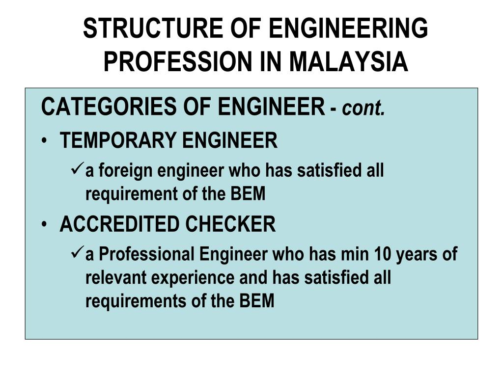 STRUCTURE OF ENGINEERING PROFESSION IN MALAYSIA