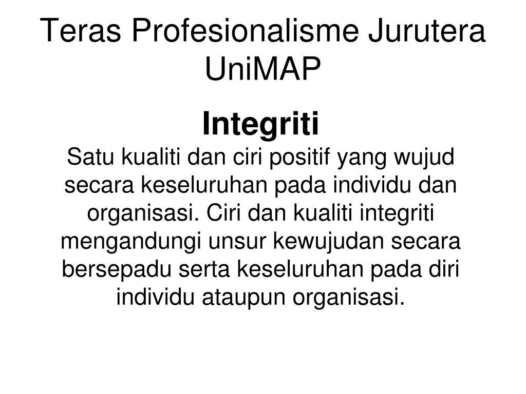 Teras Profesionalisme Jurutera UniMAP