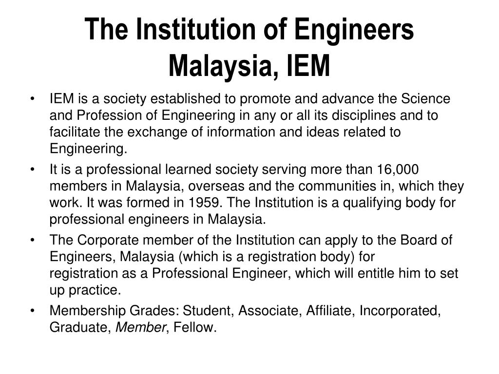 The Institution of Engineers Malaysia, IEM