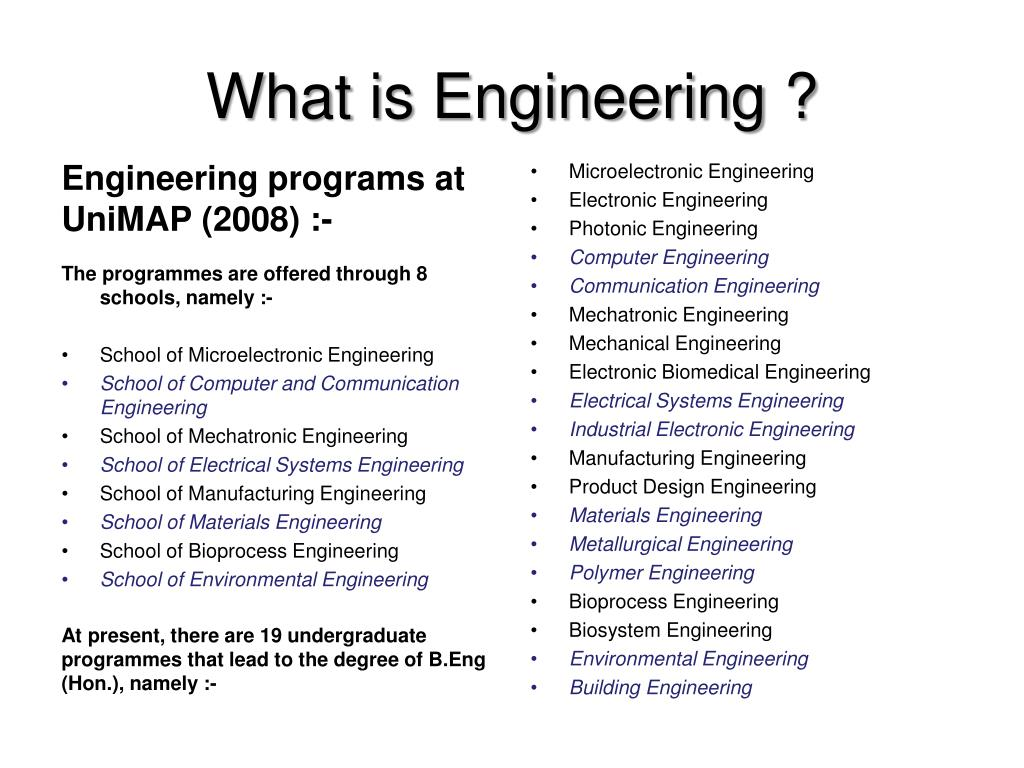 What is Engineering ?