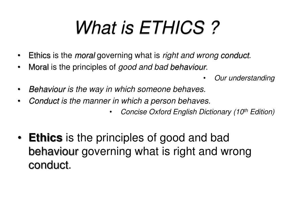 What is ETHICS ?