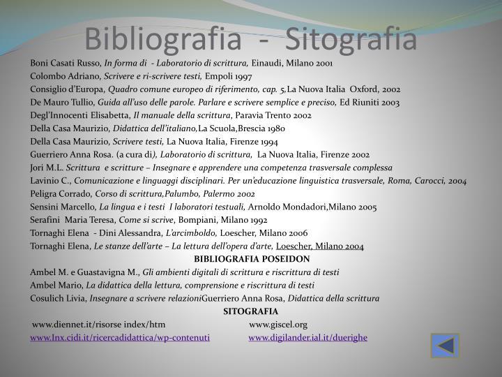 Bibliografia  -