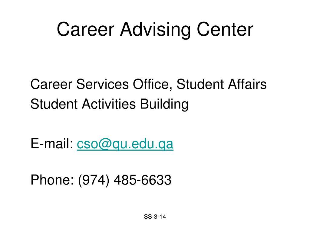 Career Advising Center