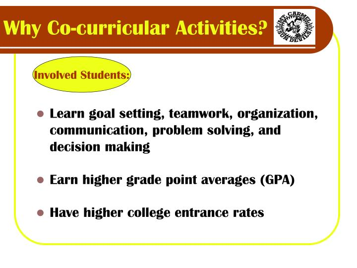 Why co curricular activities