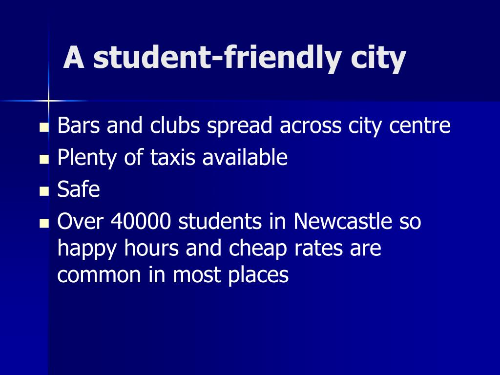 A student-friendly city