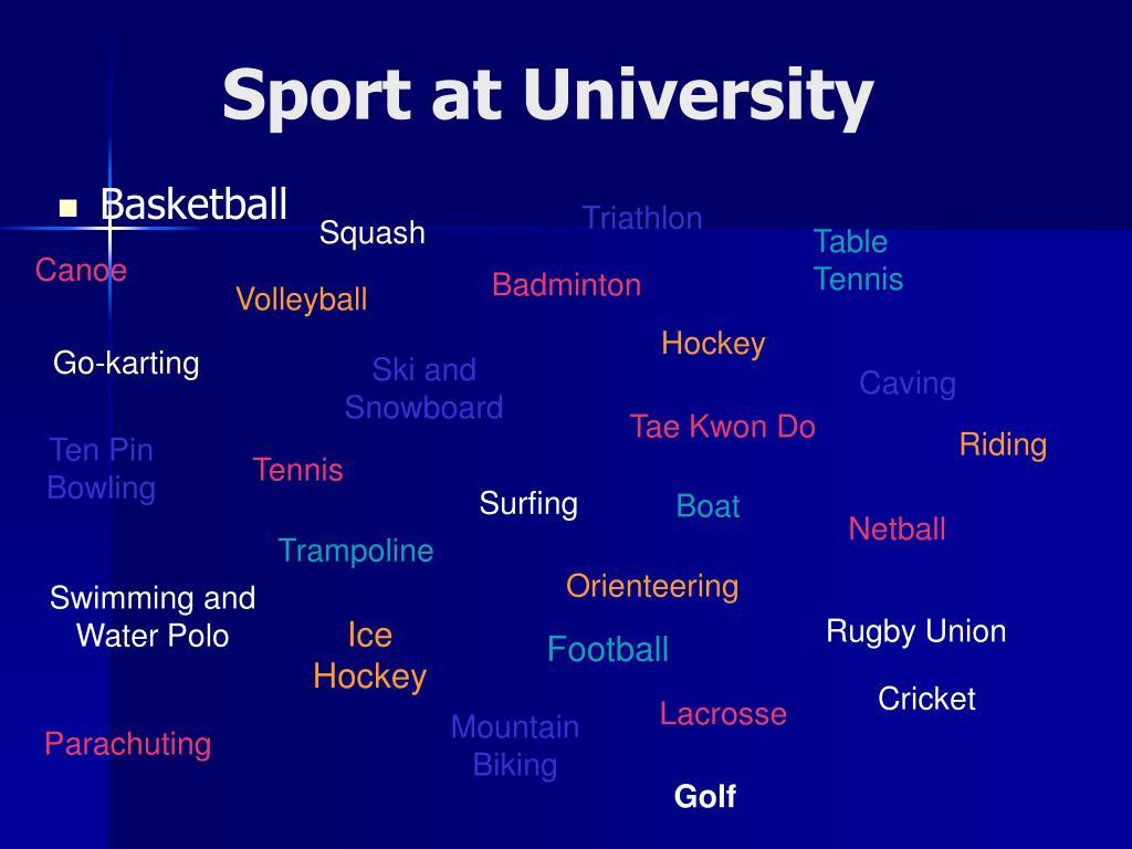 Sport at University
