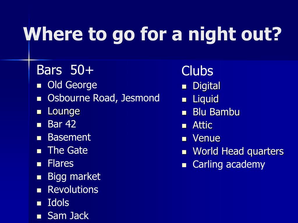 Bars  50+