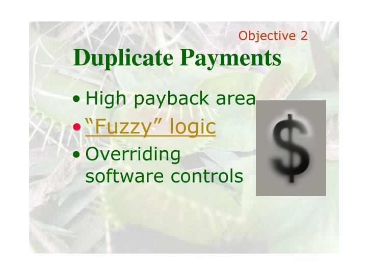 Duplicate Payments