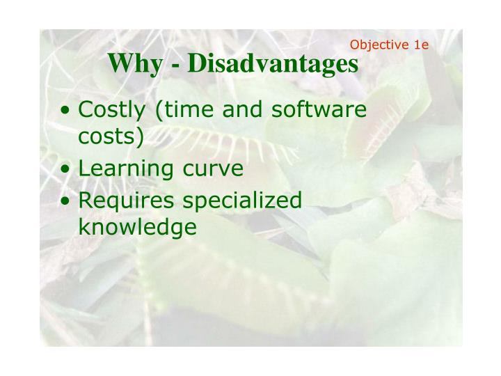 Why - Disadvantages